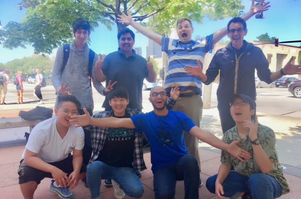 a group of happy intensive english program students
